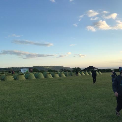 Sundown over camp.