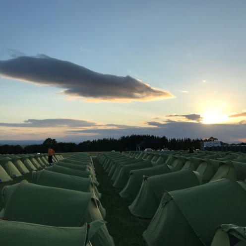 Sundown over camp.